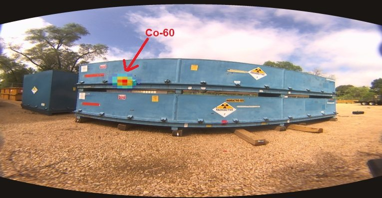 H3D H100 image showing a hot spot in a shipping container.